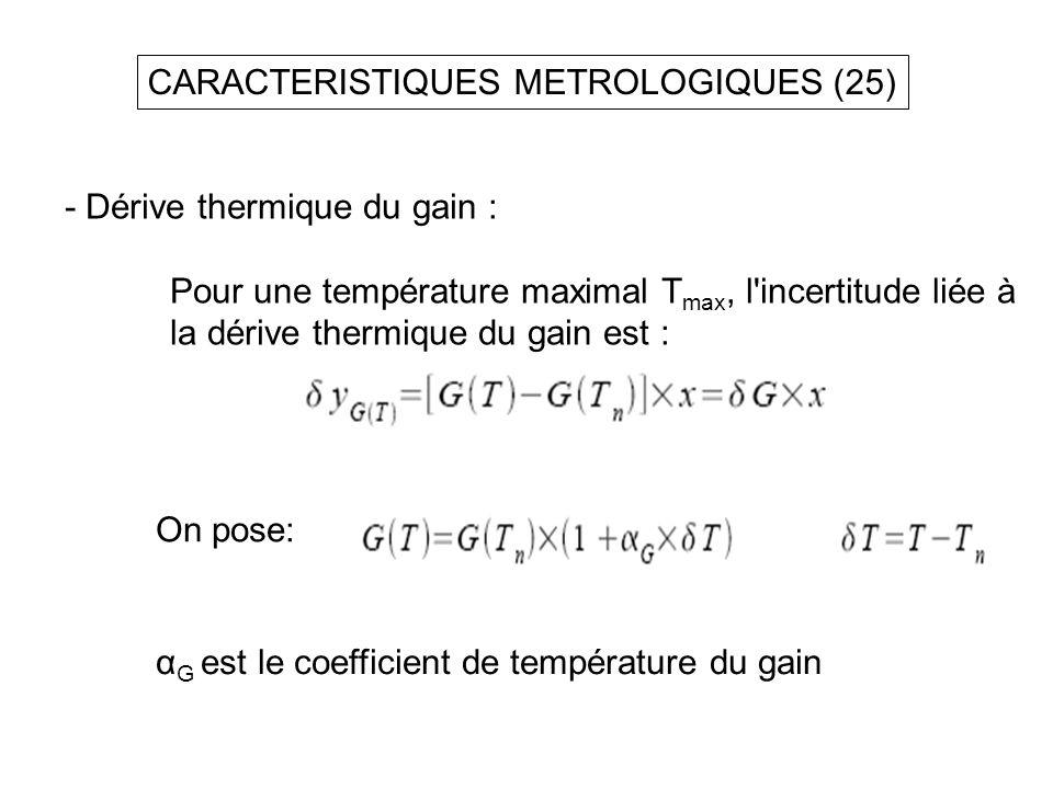 CARACTERISTIQUES METROLOGIQUES (25)