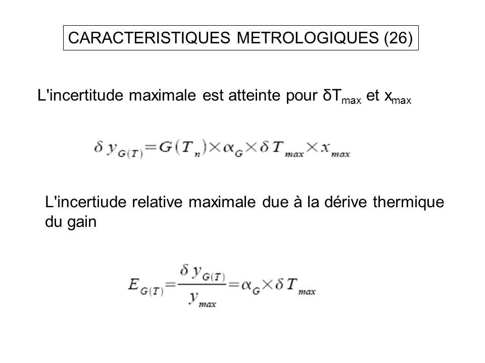 CARACTERISTIQUES METROLOGIQUES (26)