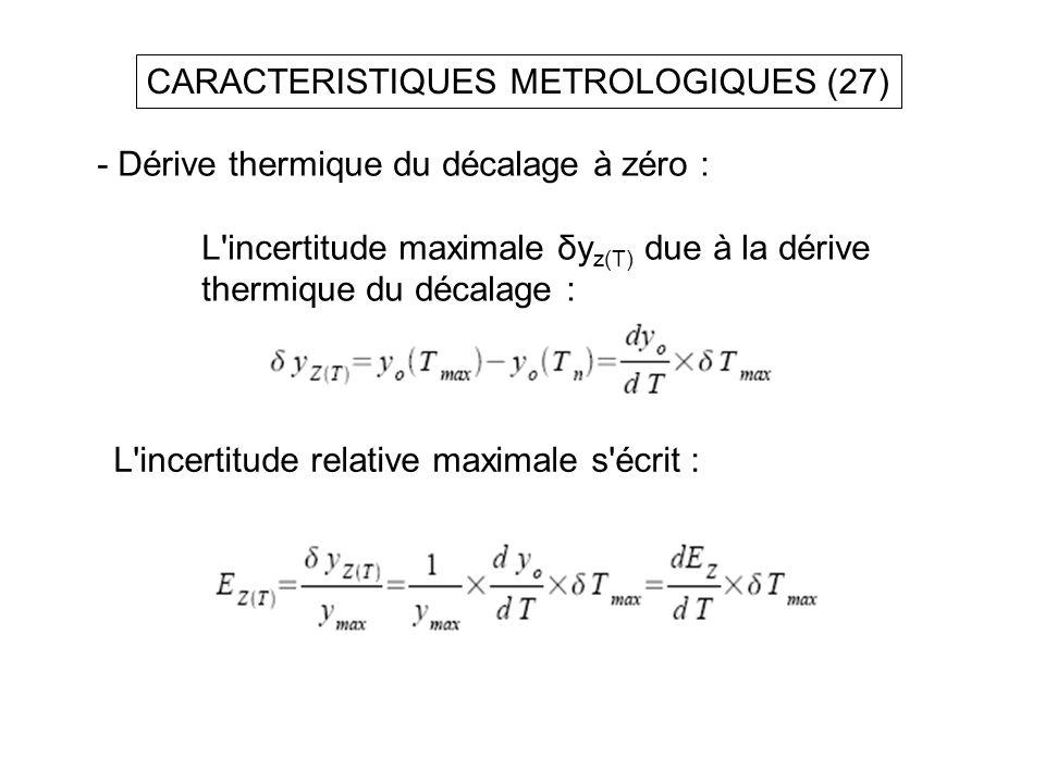 CARACTERISTIQUES METROLOGIQUES (27)