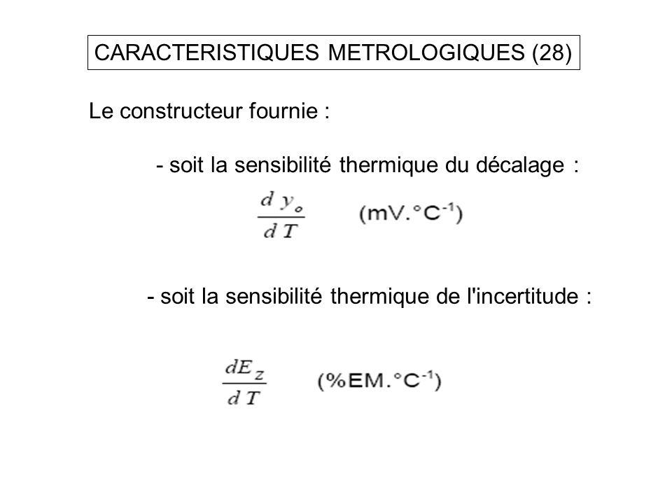 CARACTERISTIQUES METROLOGIQUES (28)