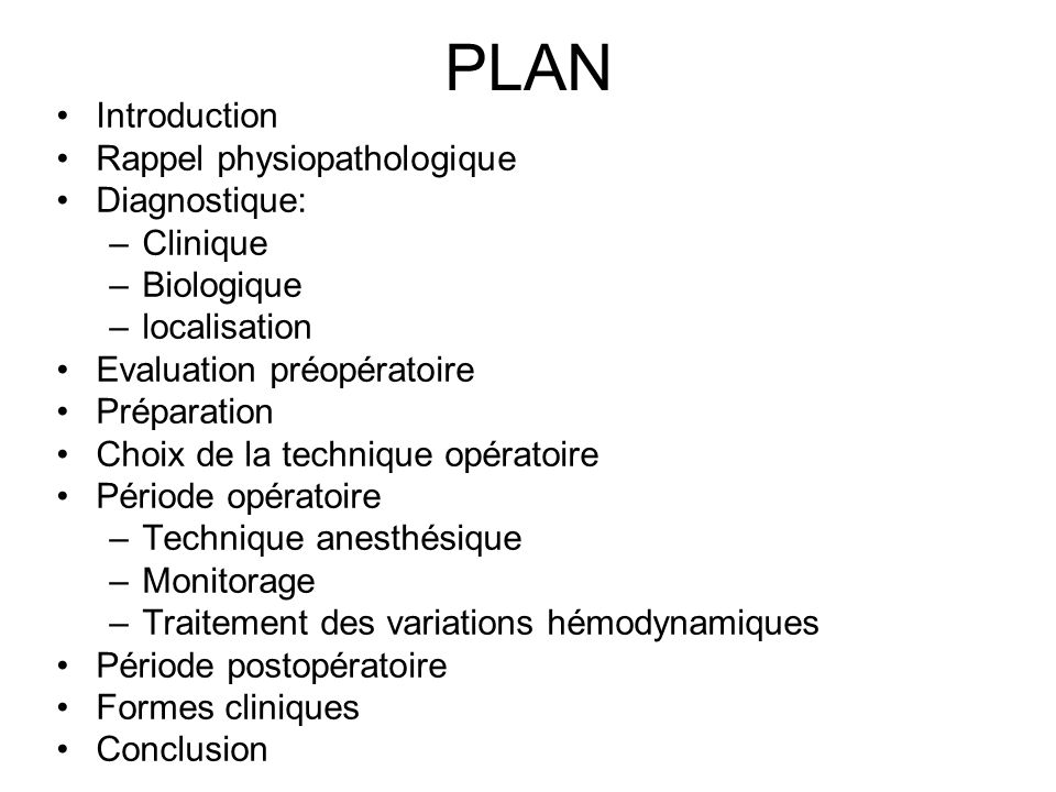 PLAN Introduction Rappel physiopathologique Diagnostique: Clinique