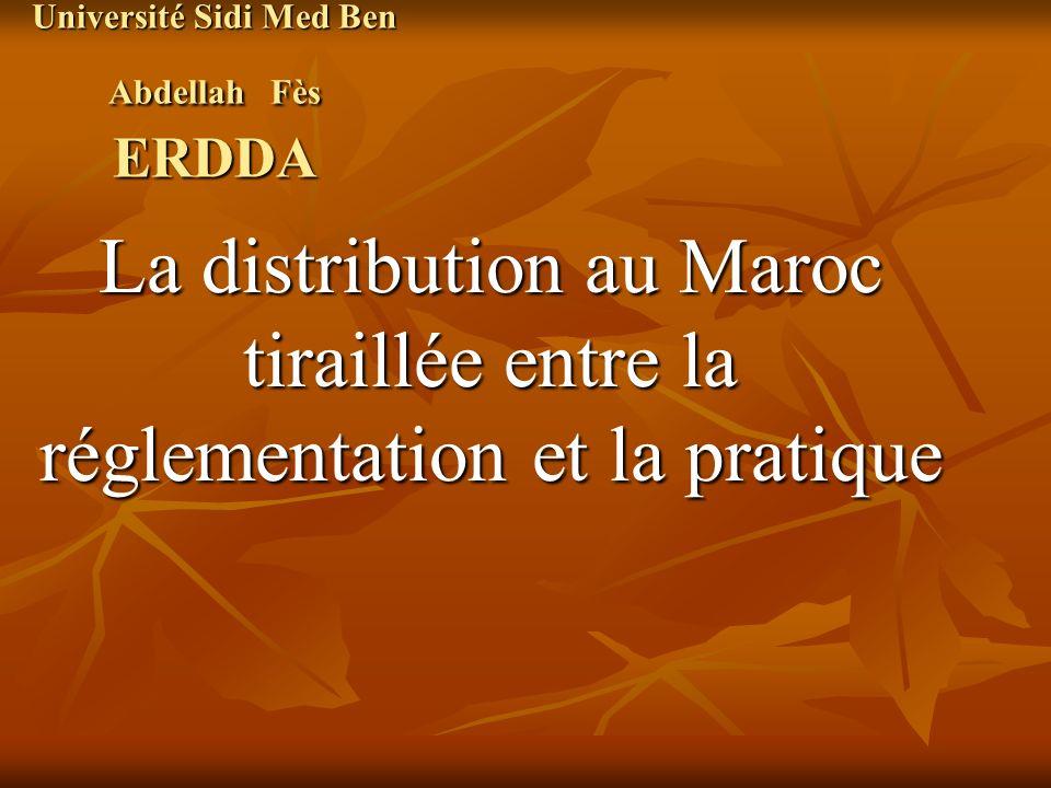Université Sidi Med Ben Abdellah Fès ERDDA