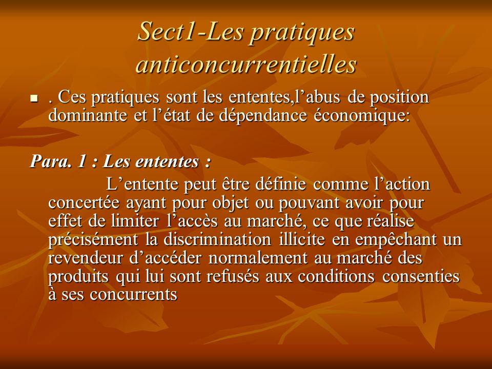 Sect1-Les pratiques anticoncurrentielles