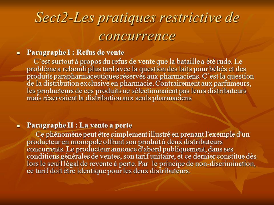 Sect2-Les pratiques restrictive de concurrence