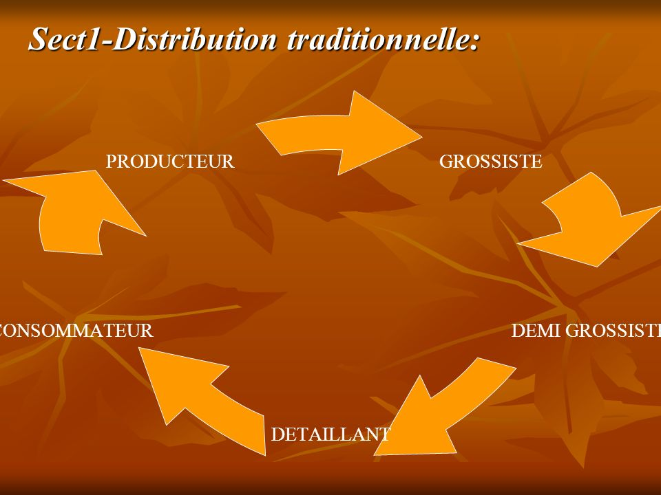 Sect1-Distribution traditionnelle: