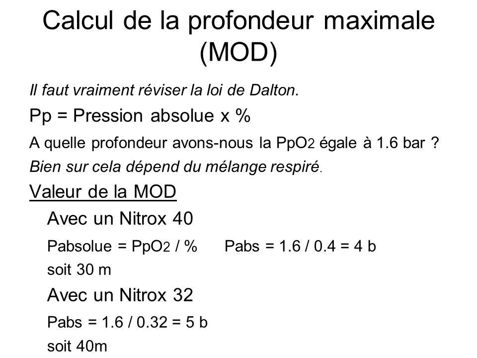 Calcul de la profondeur maximale (MOD)