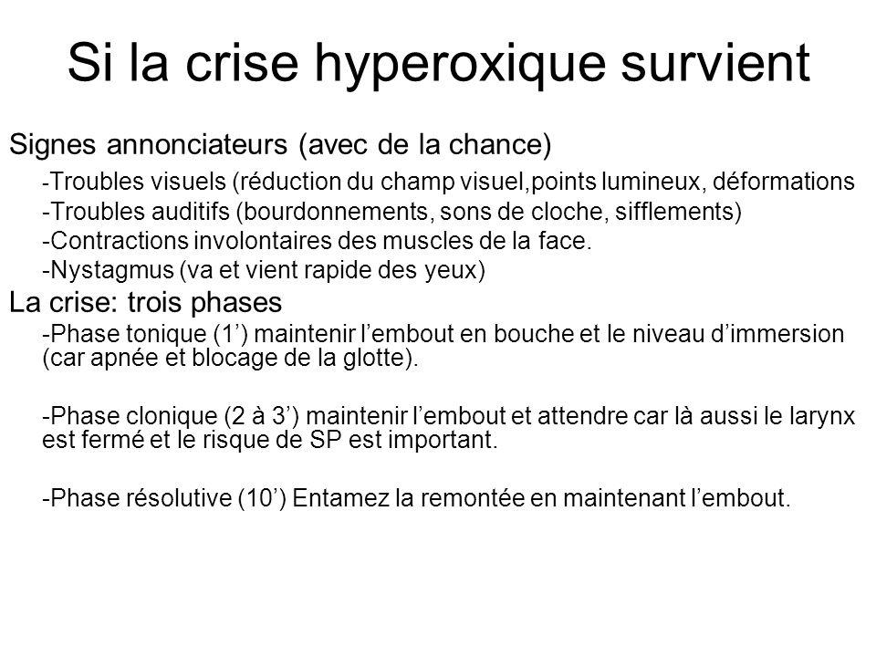 Si la crise hyperoxique survient