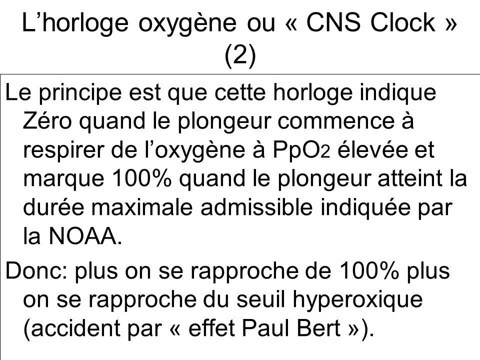 L'horloge oxygène ou « CNS Clock » (2)