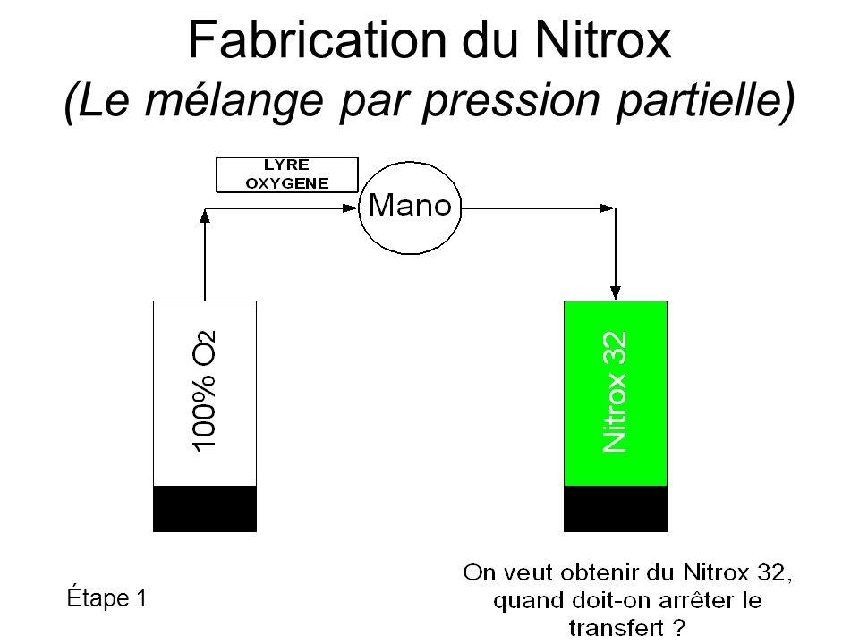 Fabrication du Nitrox (Le mélange par pression partielle)