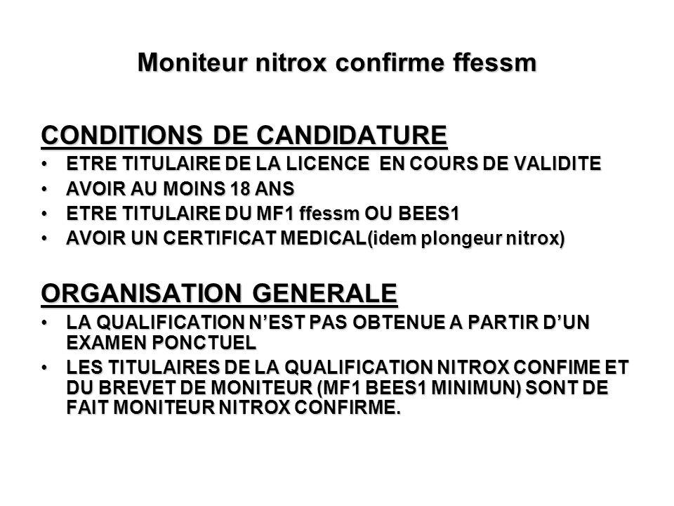 Moniteur nitrox confirme ffessm