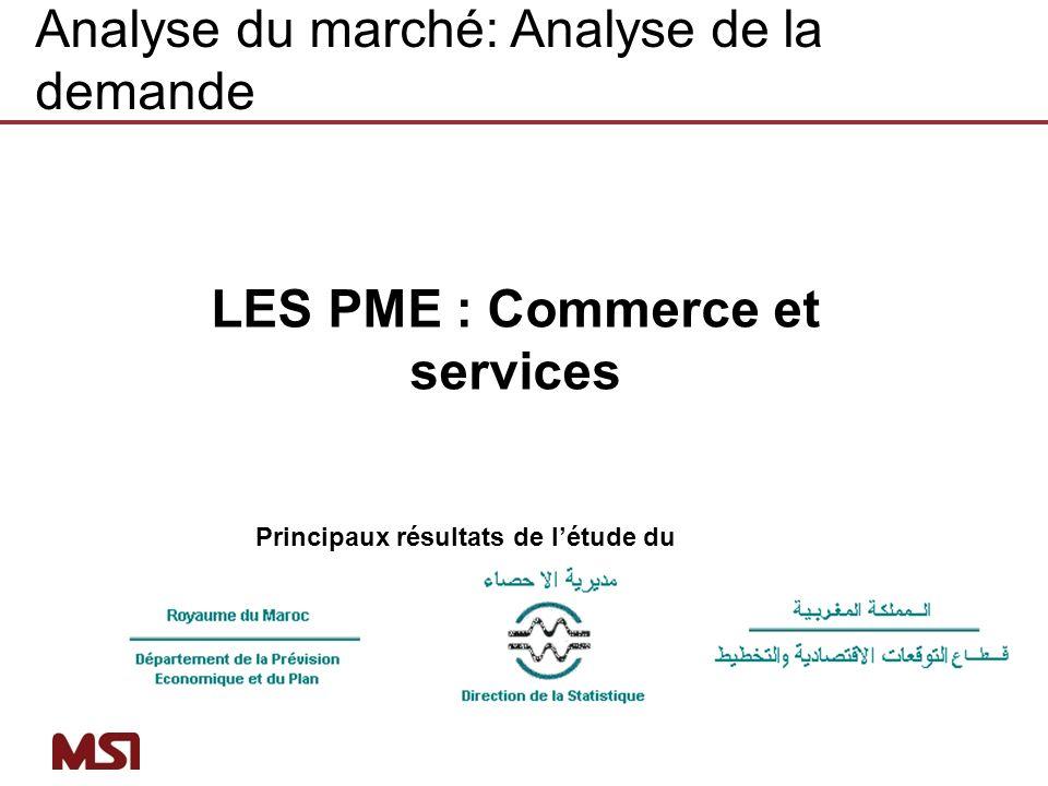 LES PME : Commerce et services