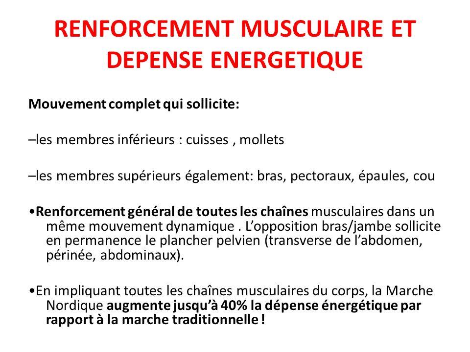 RENFORCEMENT MUSCULAIRE ET DEPENSE ENERGETIQUE