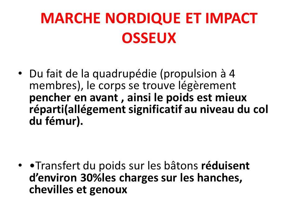 MARCHE NORDIQUE ET IMPACT OSSEUX