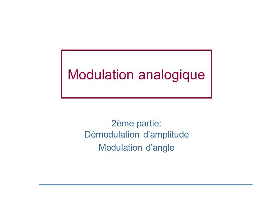 Modulation analogique