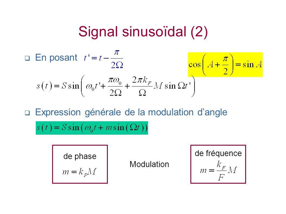 Signal sinusoïdal (2) En posant