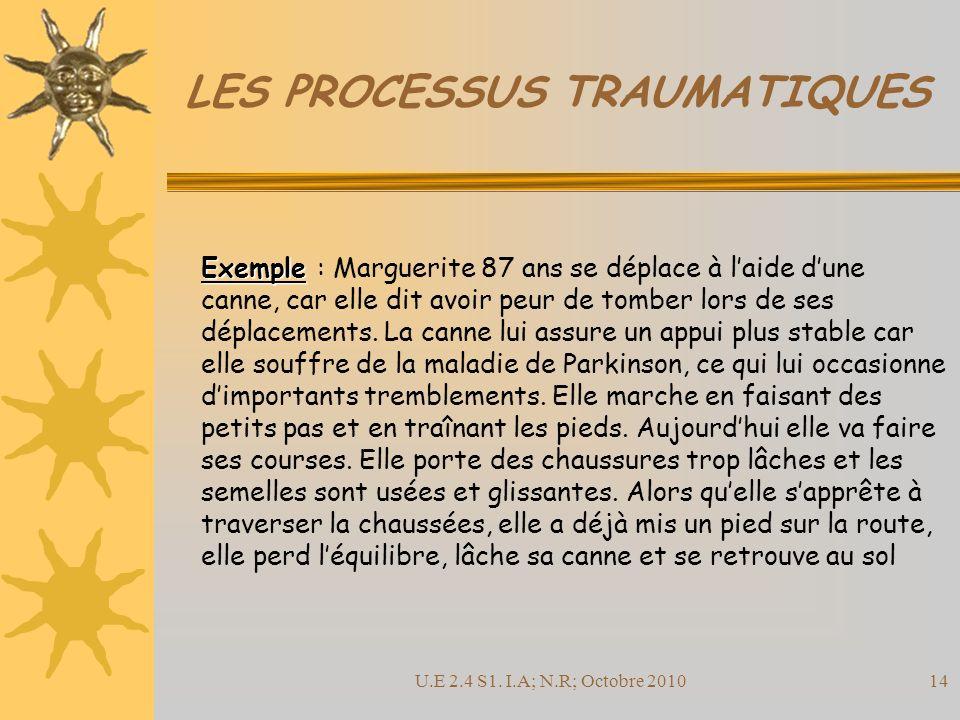 LES PROCESSUS TRAUMATIQUES