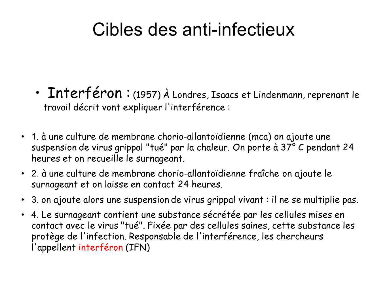 Cibles des anti-infectieux