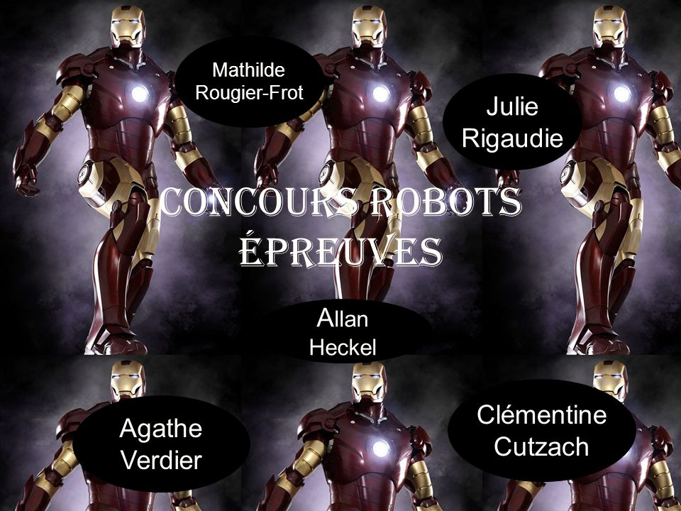 Concours robots épreuves