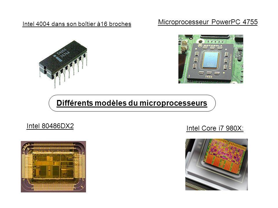 Différents modèles du microprocesseurs