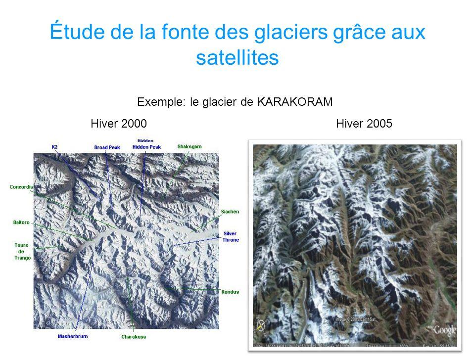 Étude de la fonte des glaciers grâce aux satellites