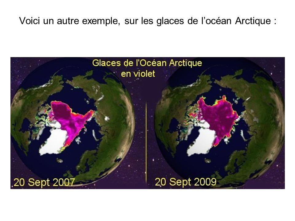 Voici un autre exemple, sur les glaces de l'océan Arctique :