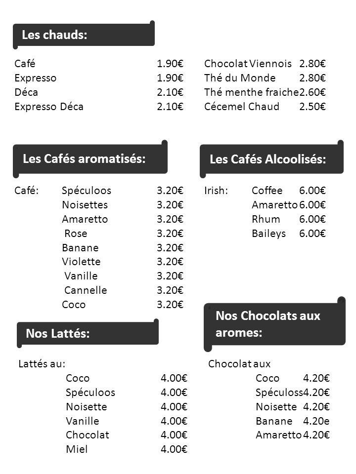 Nos Chocolats aux aromes: Nos Lattés: