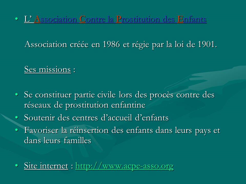 L' Association Contre la Prostitution des Enfants