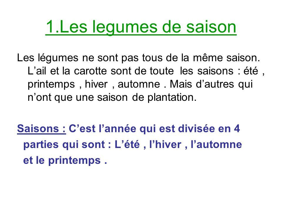 1.Les legumes de saison