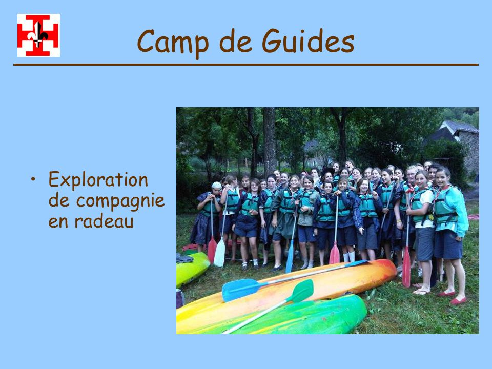Camp de Guides Exploration de compagnie en radeau