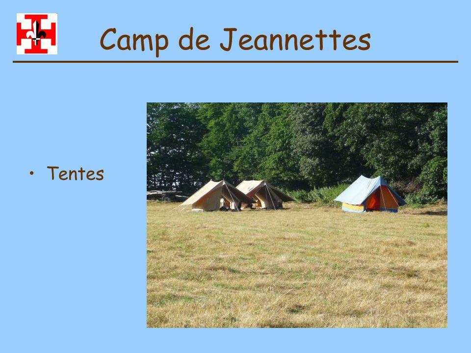 Camp de Jeannettes Tentes