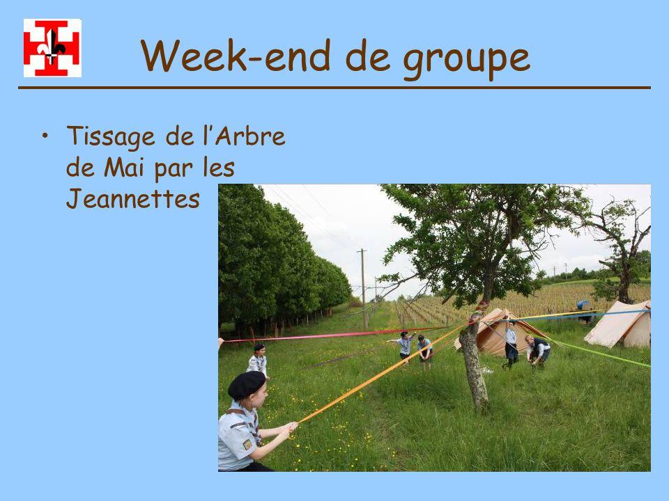 Week-end de groupe Tissage de l'Arbre de Mai par les Jeannettes