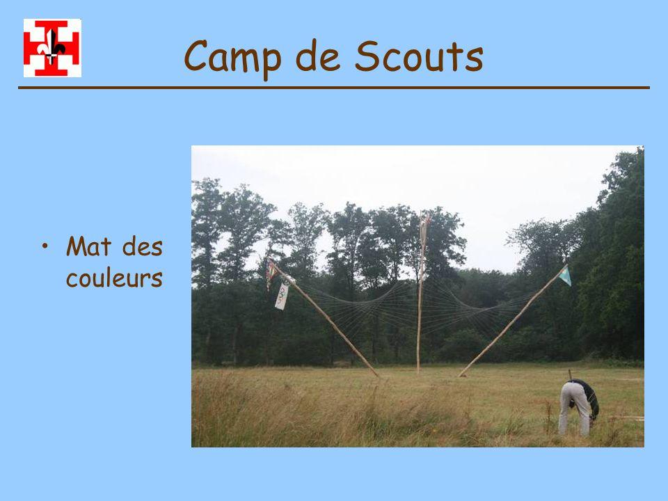 Camp de Scouts Mat des couleurs