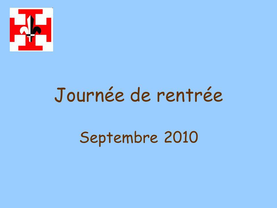 Journée de rentrée Septembre 2010