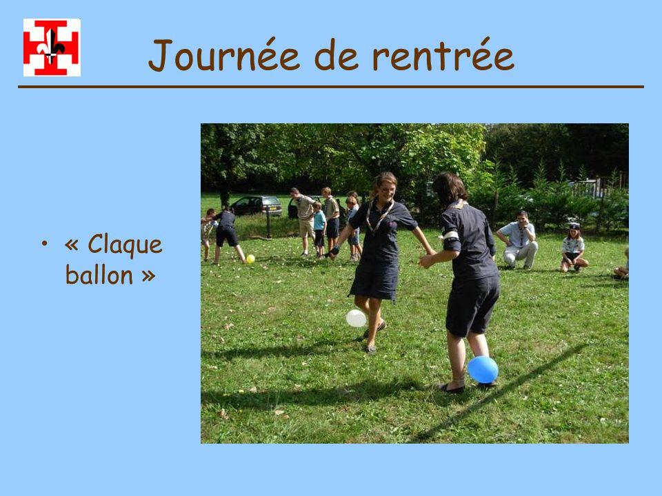 Journée de rentrée « Claque ballon »