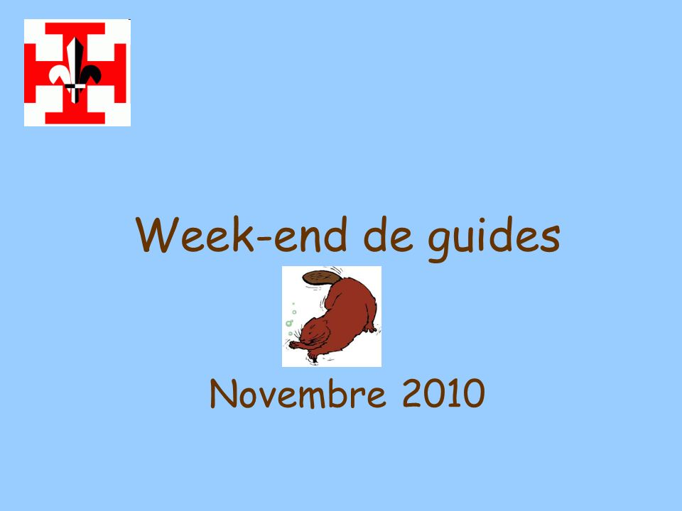 Week-end de guides Novembre 2010
