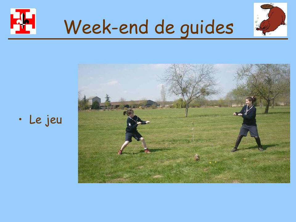 Week-end de guides Le jeu