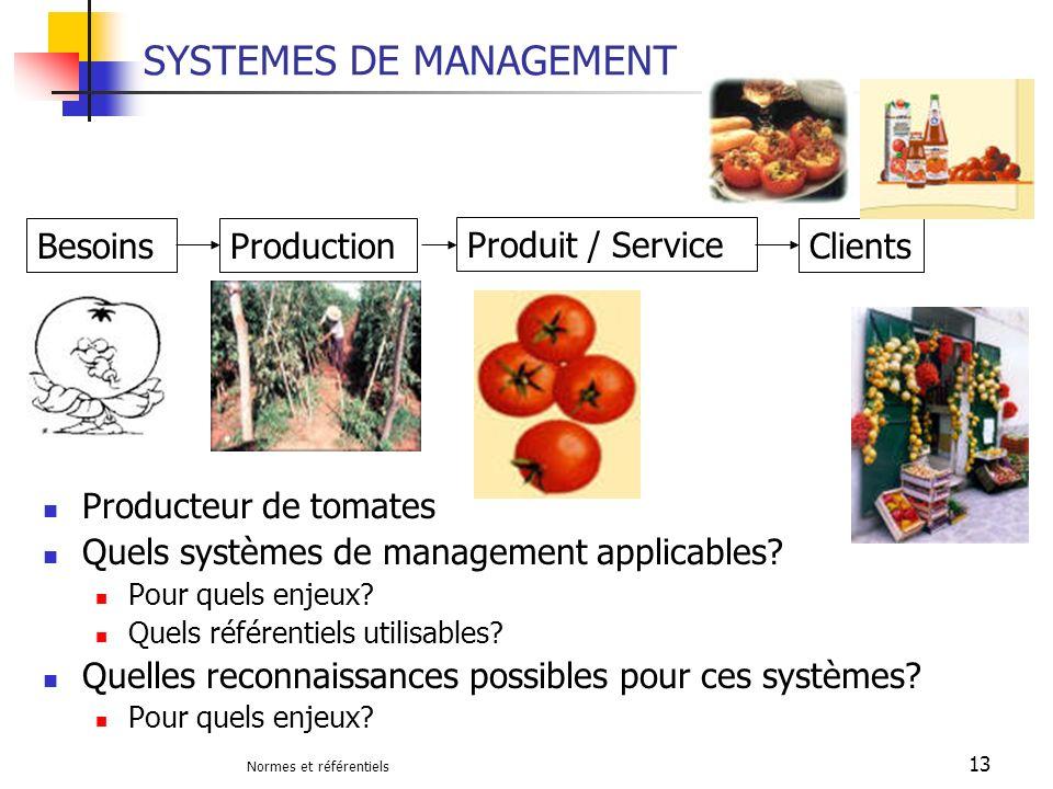 SYSTEMES DE MANAGEMENT