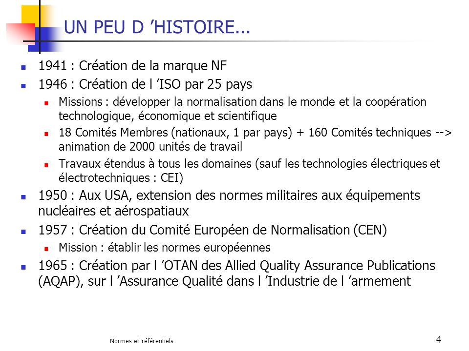 UN PEU D 'HISTOIRE... 1941 : Création de la marque NF