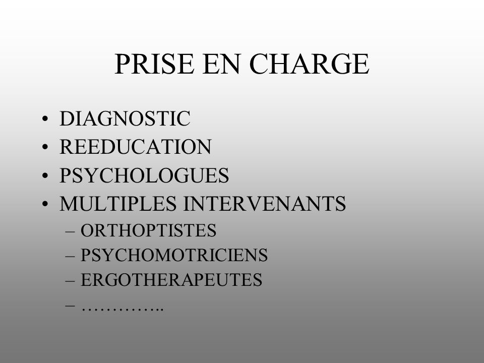 PRISE EN CHARGE DIAGNOSTIC REEDUCATION PSYCHOLOGUES