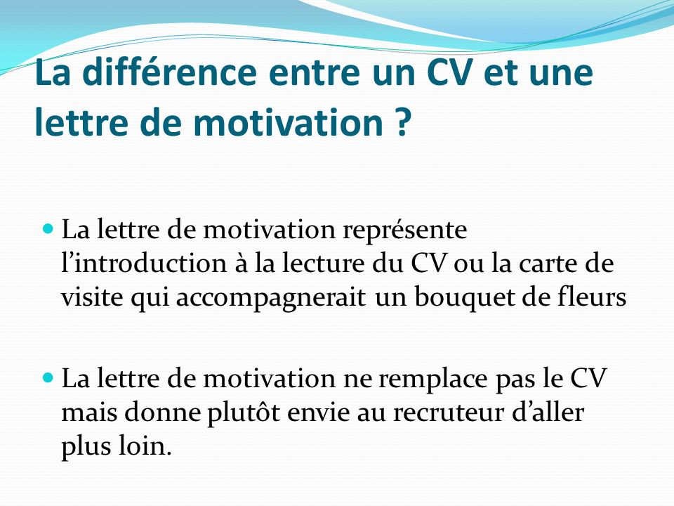 rediger la bonne lettre de motivation