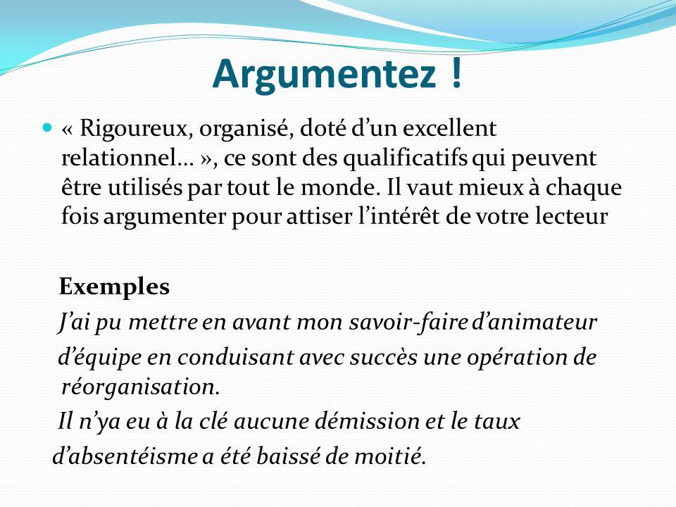 Argumentez !