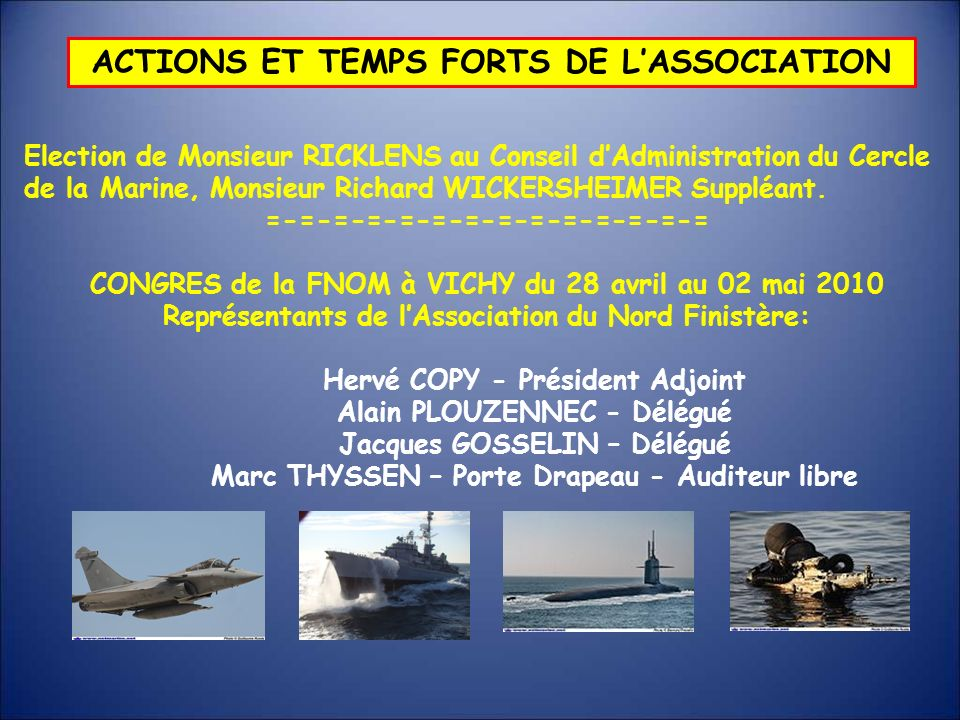 ACTIONS ET TEMPS FORTS DE L'ASSOCIATION