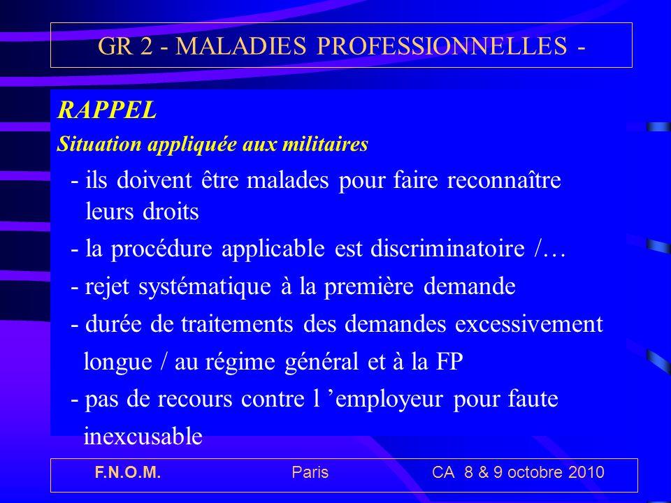 GR 2 - MALADIES PROFESSIONNELLES -