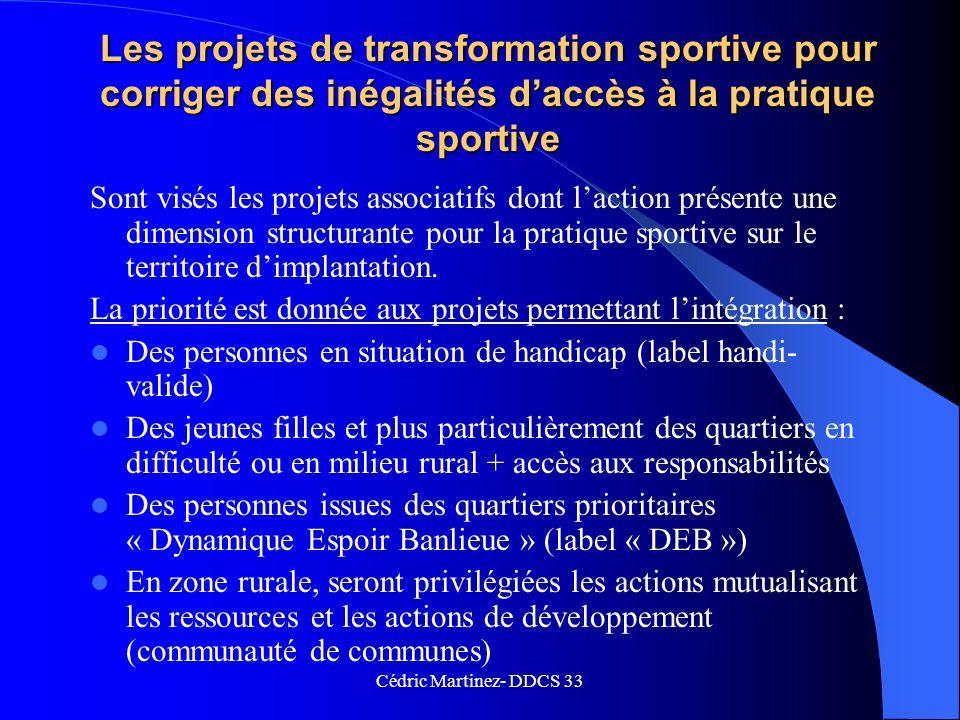 Les projets de transformation sportive pour corriger des inégalités d'accès à la pratique sportive