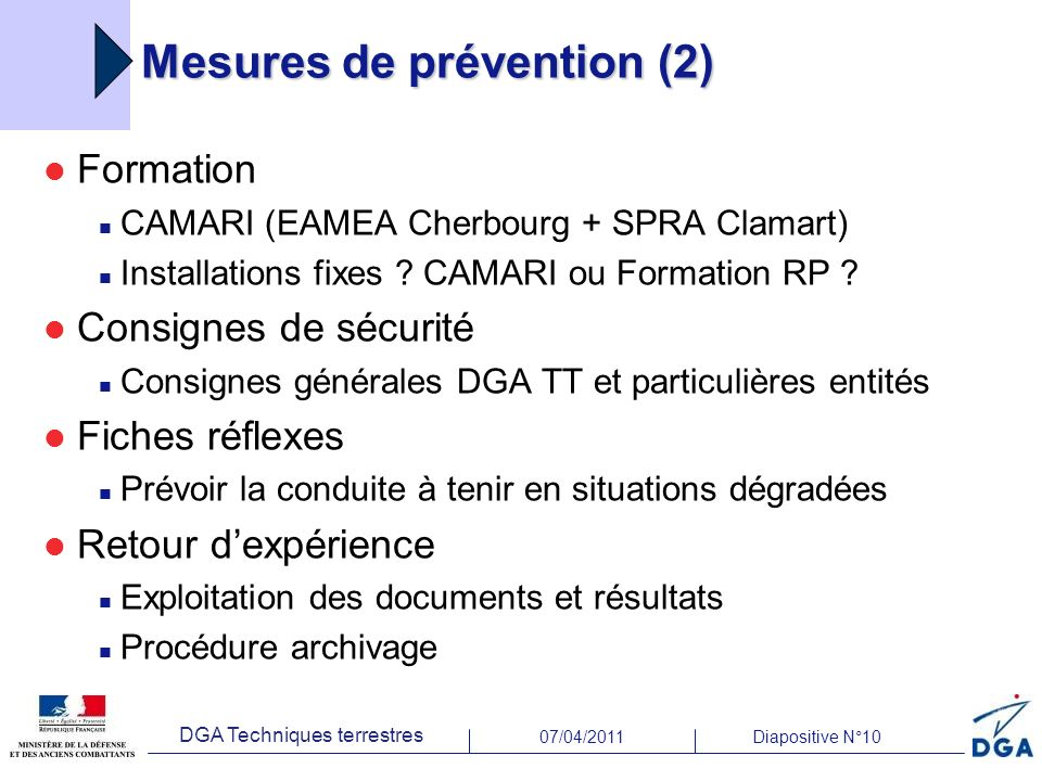 Mesures de prévention (2)