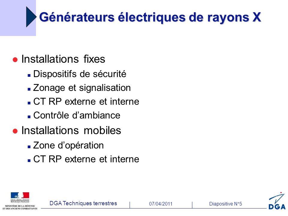 Générateurs électriques de rayons X