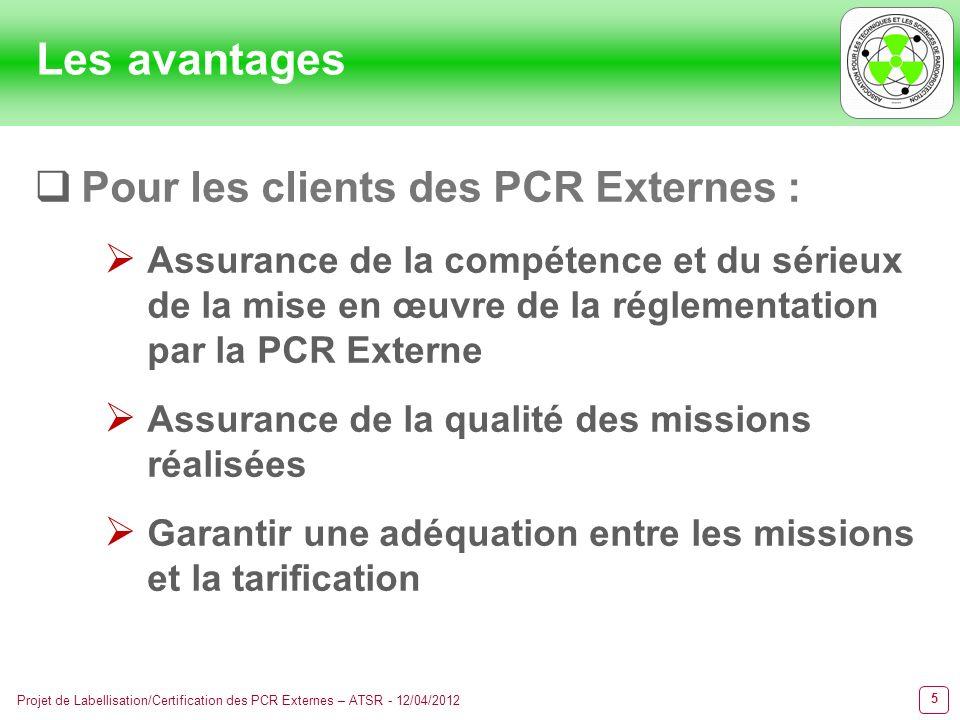Les avantages Pour les clients des PCR Externes :
