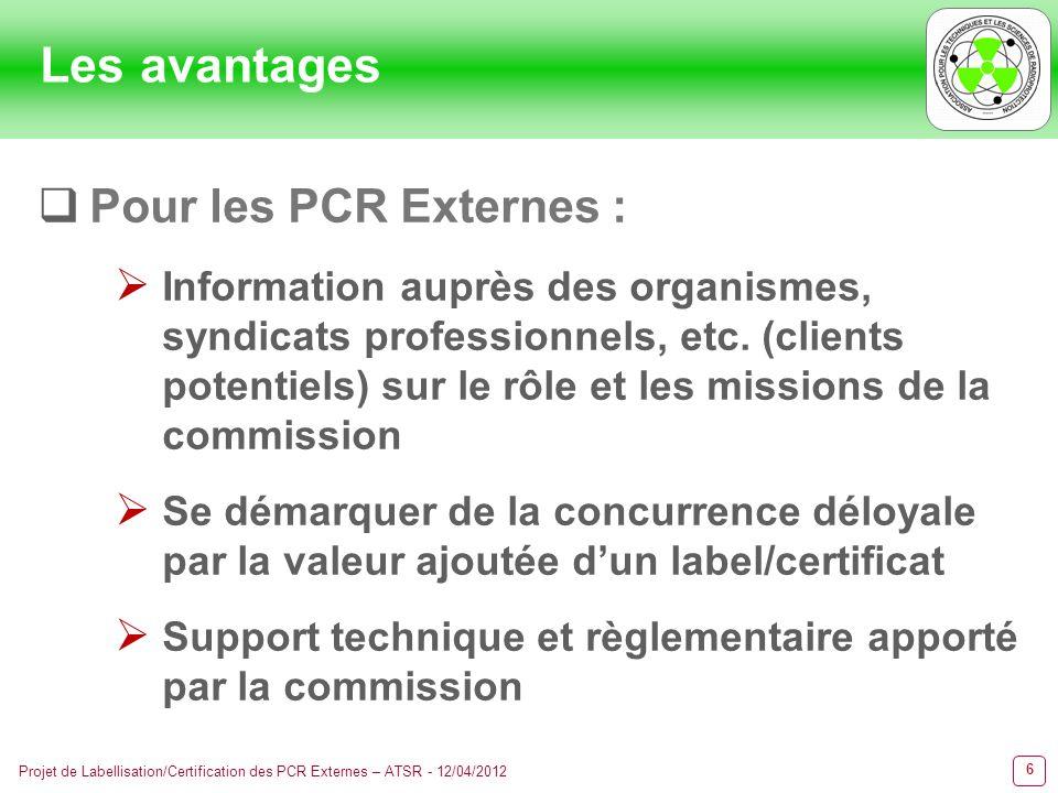 Les avantages Pour les PCR Externes :
