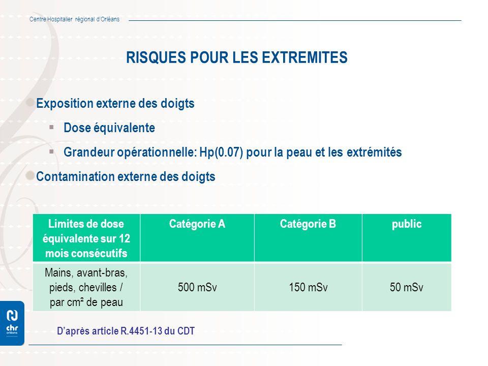 RISQUES POUR LES EXTREMITES