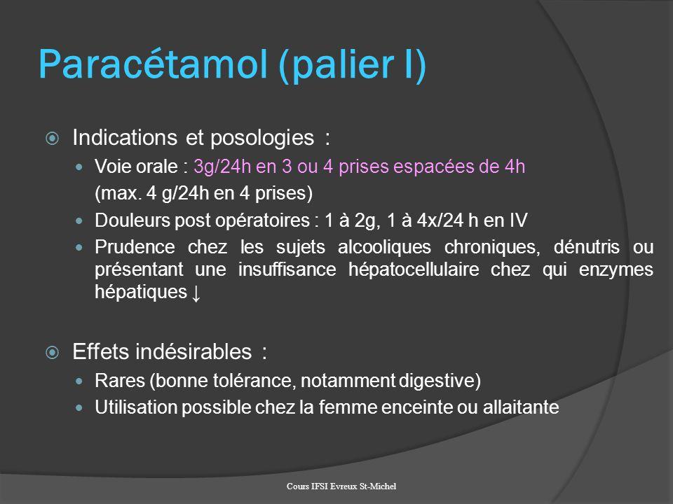 Paracétamol (palier I)